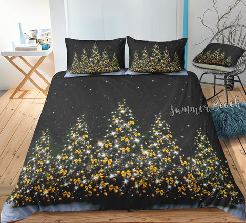 Christmas Bow Trees Bed Set
