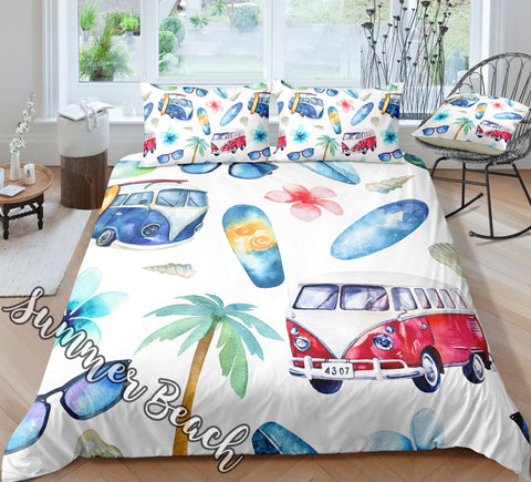 "Beach Time Cot Doona Cover Bed Set - ""Made To Order"" Will take 2 - 3 weeks to arrive - Cotton"