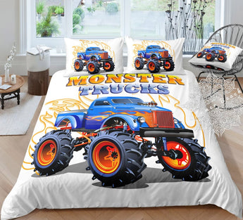 Flame Monster Truck Bed Set