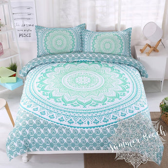 Green Ombre' Bed Set