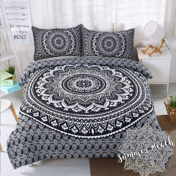 Black & White Ombre Bed Set - New
