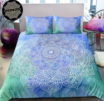 Paradise (Green & Blue) Bed Set - New