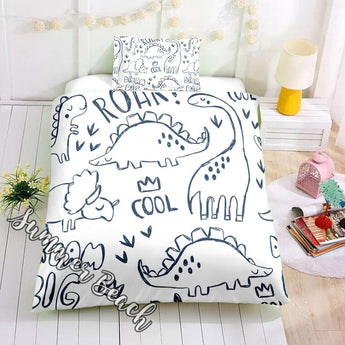 Cool Dinosaur Bed Set - New