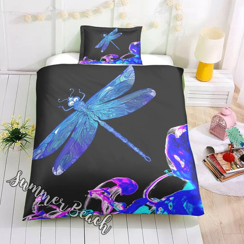 Dragonfly Dreams Bed Set - Black - New
