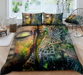 Majestic Mandala Buddha Bed Set