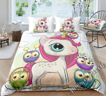 Unicorn & Friends Bed Set - New