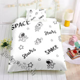 Stars & Space Monochrome  Bed Set - New
