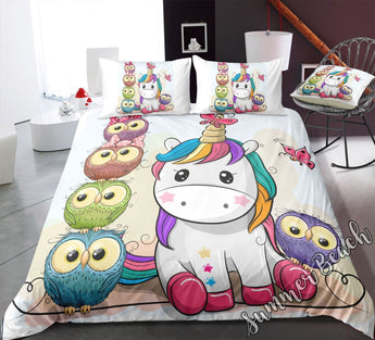 Unicorn Hoot Bed Set - New