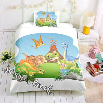 Dinosaur Friends Bed Set - New