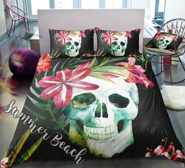 Tropical Skull Bed Set - New