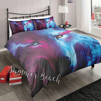 Hot & Cold Wolf Bed  Set - New