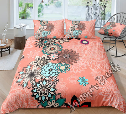 Peach Mandala Bed Set - New