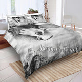 Wolf Couple Bed  Set - New