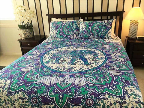 Purple Elephant Bed Set - B19