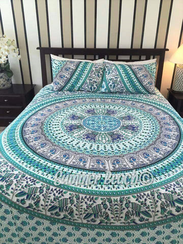 Green Bird Of Paradise Bed Set - B21