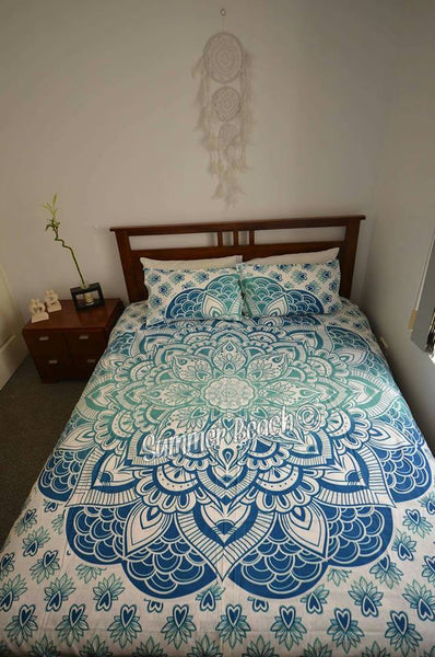 Green / Blue Mermaid Bed Set - B57