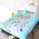 Dream Catcher Skull Green Bed Set - WELL BELOW COST (DOUBLE SIZE ONLY)