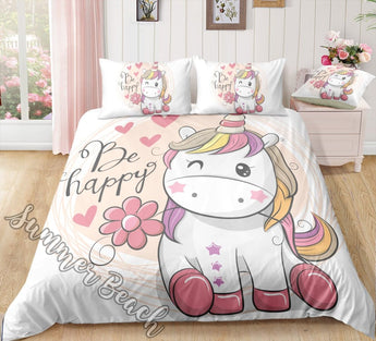 Happy Unicorn Bed Set - New