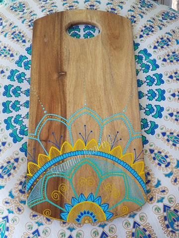 Hand Painted Wooden Mandala Serving Boards - Board24