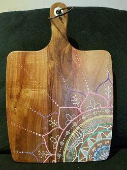 Hand Painted Wooden Mandala Serving Boards - Board31