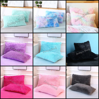 Plush Fluffy Pillowcases Only - 1 Pair