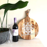Hand Painted Wooden Mandala Serving Boards - Board1