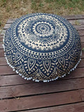Floor Cushion Cover - Gold & Black Ombre' - FC12