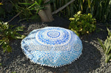 Floor Cushion Cover - Blue Ombre' Mandala - FC6