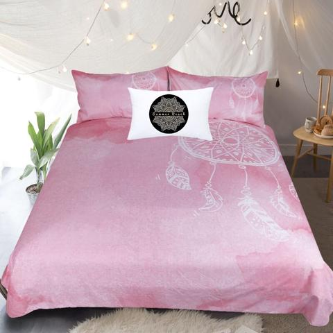 Pink Dream Catcher Bed Set - WELL BELOW COST (SINGLE, DOUBLE & KING SIZE ONLY)
