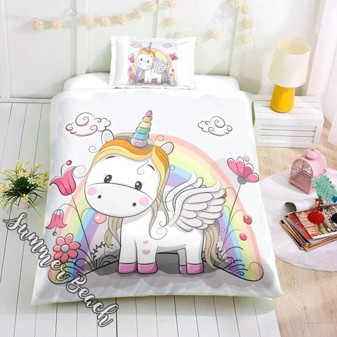 Little Wings Unicorn Bed Set - New