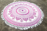 Round Mandala - Pink Star Ombre` - M14