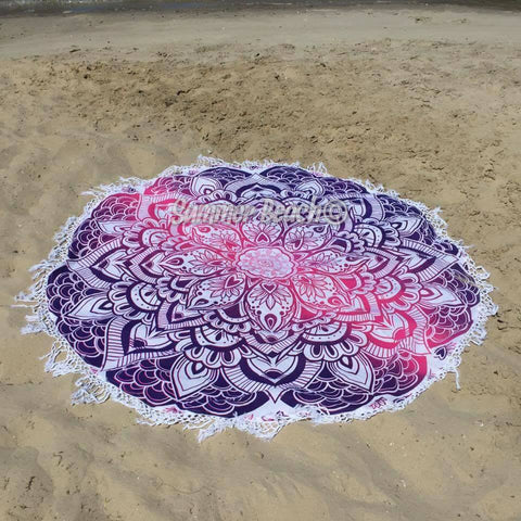 Round Mandala - Purple & Pink Mermaid - M35