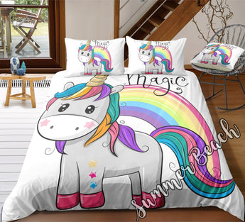 Magic Unicorn Bed Set - New