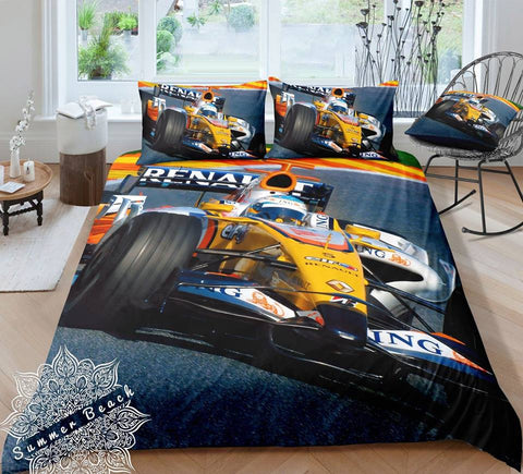 Formula One Cot Doona Cover Bed Set