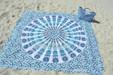 Square Mandala - Blue & White Peacock - SQM8