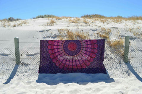 Square Mandala - Pink & Purple Peacock - SQM9