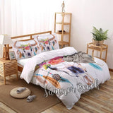Feather Bull Skull Bed Set
