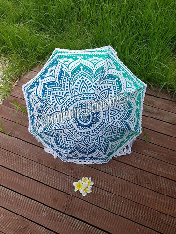 Little Mandala Umbrella - Green Ombre' - UMB4