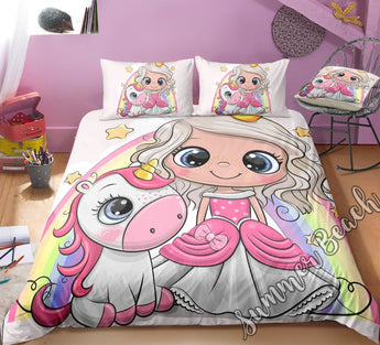 Little Unicorn Princess Bed Set - New