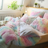 Plush Fluffy Rainbow Bed Set - MADE TO ORDER