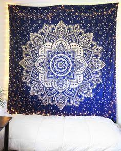Square Mandala - Navy Blue & Silver Flower - SQM17