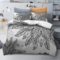 Petales - Black and White Bed Set - New Product