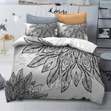 Petales - Black and White Bed Set