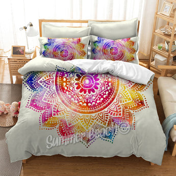 Rainbow Dreams White Bed Set