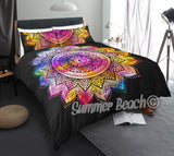 Rainbow Dreams Black Bed Set - New Product