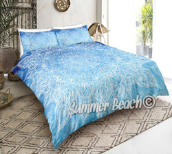 Blue Water Colour Mandala Bed Set - New Product