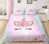 Lashes Unicorn Bed Set