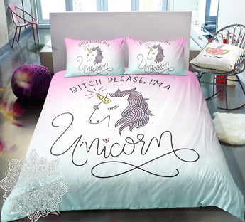 Bitch Please I'm A Unicorn Bed Set