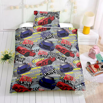 Speed Racer Cars Bed Set