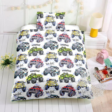 Creative Brave Trucks Bed Set